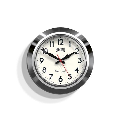 Decorative Wall Clock Small Retro Wall Clock Chrome Office Newgate Clocks