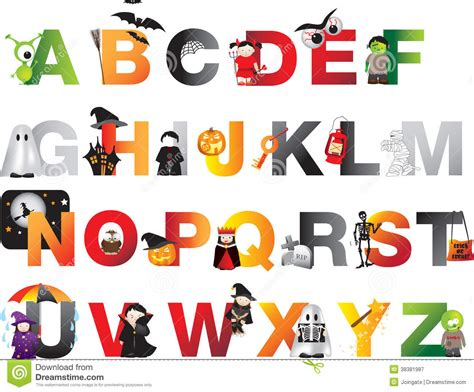 free printable halloween alphabet letters halloween alphabet royalty free stock photography image