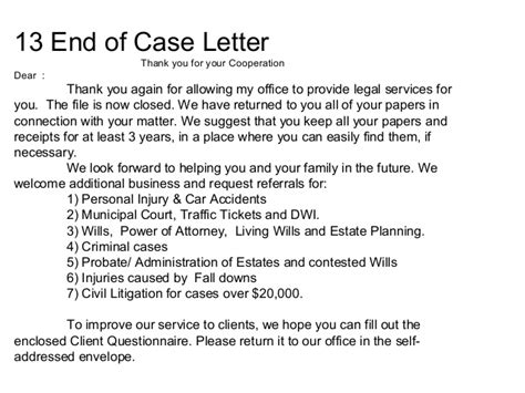 Thank You Letter To Your Cooperating Municipal Court Criminal Practice