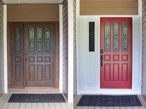 front door before and after front door painting a front door diy ducklings