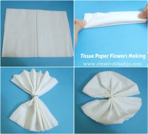 How To Fold A Tissue Paper Flower - tissue paper flowers