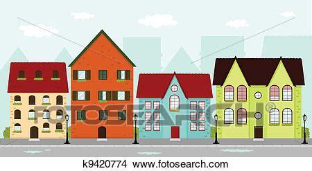 clip kostenfrei clipart of townhouses k9420774 search clip