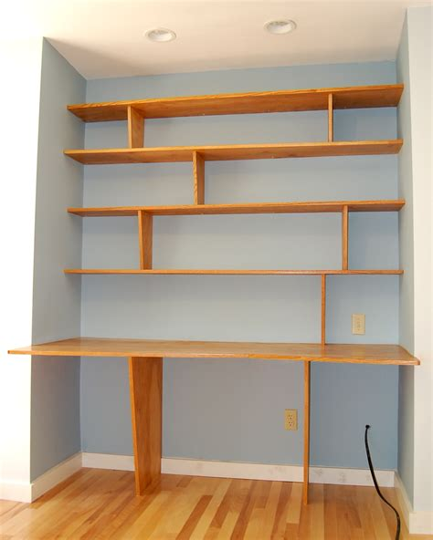 Shelving With Desk desk every thing is a shelf