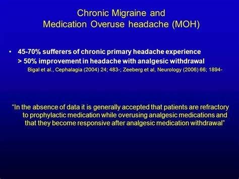 Medication Overuse Headache Detox by 4th Biennial Hull Bash Headache Meeting Jan 20th Ppt