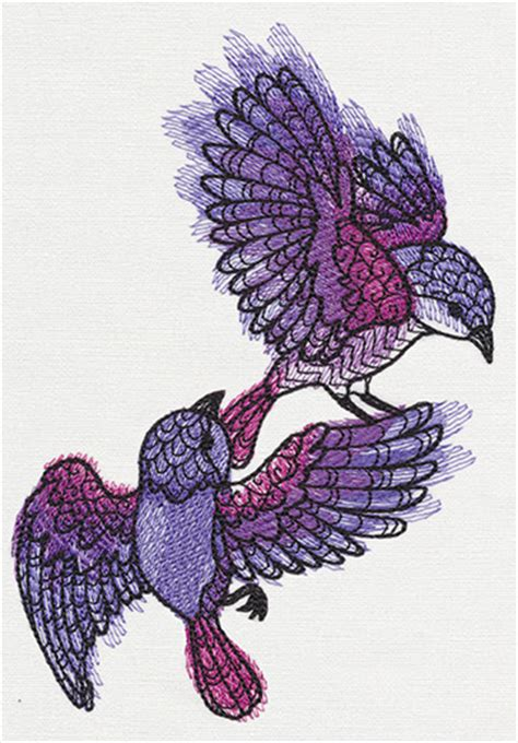 doodlebug embroidery design doodle sparrows threads unique and awesome