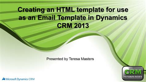 creating an html email template creating an html template for use with email templates in