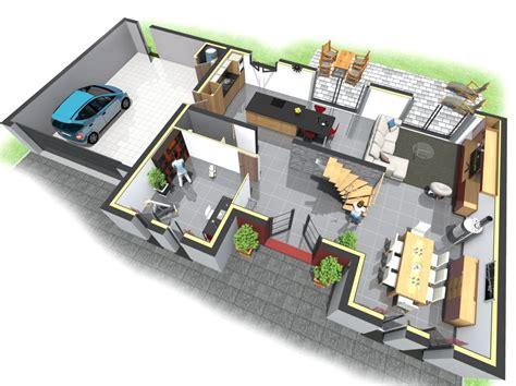 Plan Maison 3d Gratuit En Ligne 3436 by Plan De Maison Moderne 3d