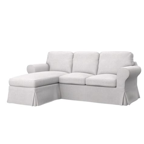 ikea ektorp 2 seat sofa with chaise longue cover soferia