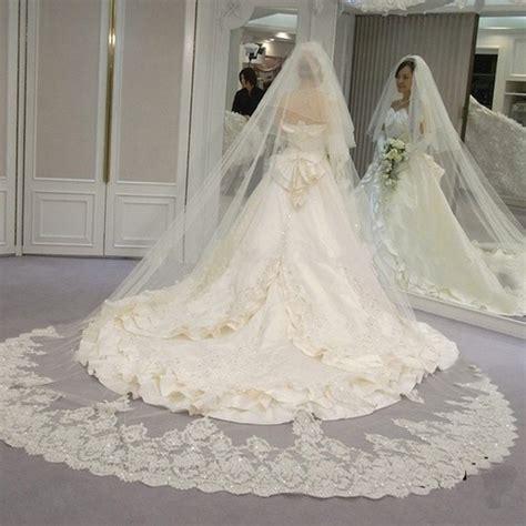 velos largos de la novia al por mayor de alta calidad de