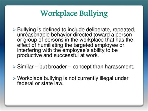 thesis about workplace bullying managing employee online behavior presentation 111715
