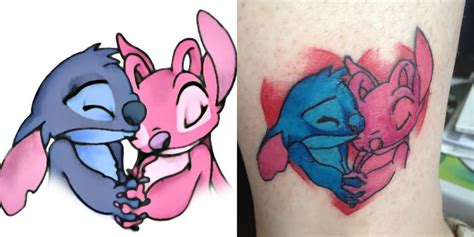 6 stitch and angel tattoos