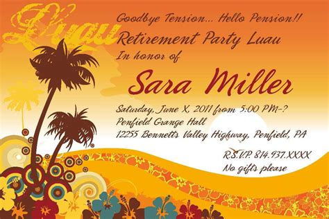 free retirement invitation templates for word retirement invitation template retirement