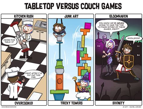 couch games tabletop vs couch games semi co op