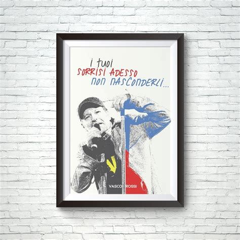 poster vasco poster personalizzabile idea regalo fan di vasco