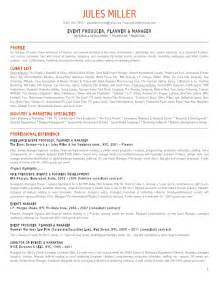 Festival Director Sle Resume by Jules Miller Events Resume