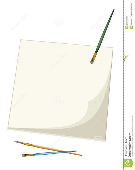 sketchbook brushes artist brushes lying on a blank sketchbook royalty free