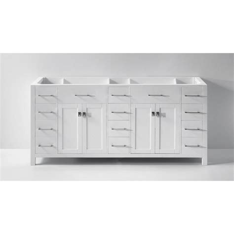Bathroom Vanity Cabinets Only Virtu Usa Caroline Parkway 72 In W X 22 In D Vanity Cabinet Only In White Md 2172 Cab Wh The