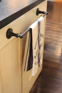 Kitchen Towel Bars Ideas my sweet savannah on using bathroom hardware in the kitchen