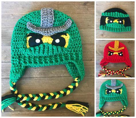 ninjago pattern crochet a ninjago helmut or hat pattern comes in two fun