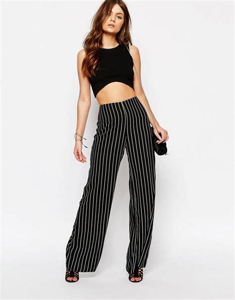Stripe Wide new look new look stripe wide leg trousers