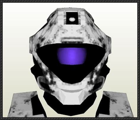 Papercraft Halo Helmet - papercraftsquare new paper model halo