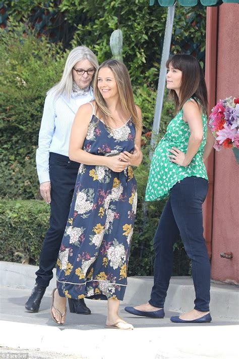 diane keaton how old diane keaton 71 looks youthful in striped top and scarf