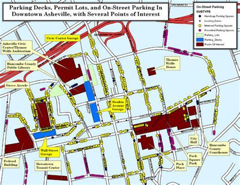 ashville nc map asheville nc parking map