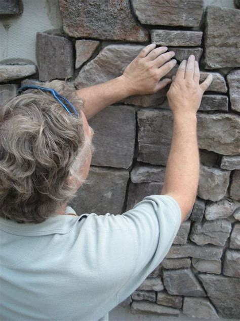 apply stone veneer siding  tos diy