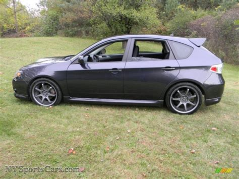 wrx subaru grey 2009 subaru impreza wrx wagon in dark gray metallic photo