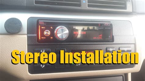install  car stereo car deck head unit