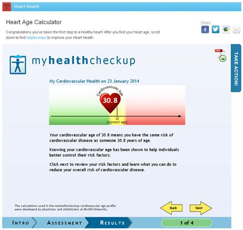 Take Your Health To With A Checkup My Fashion by Take Health To Age Calculator Treatyourheart