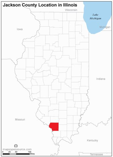 Jackson County Illinois Search Free And Open Source Location Map Of Jackson County Illinois Mapsopensource