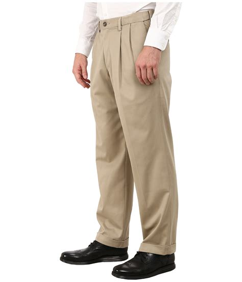 relaxed khaki dockers s comfort khaki stretch relaxed fit pleated at zappos