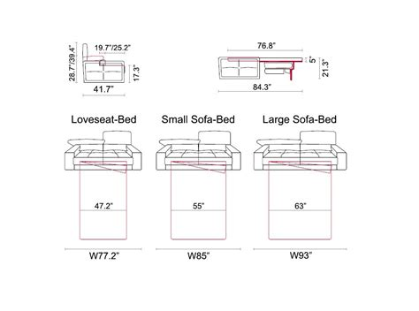 sleeper sofa sizes thesofa