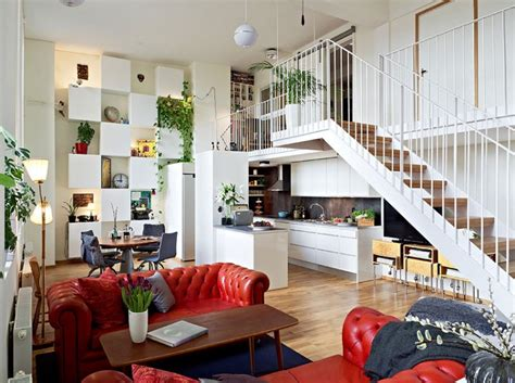decorating your first home scandinavian design beautiful apartment with mezzanine in