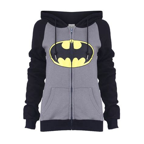 St Sweater Batman Batto my would be so happy if i wore this quot big quot grey hoodie coat 39 cad found on polyvore