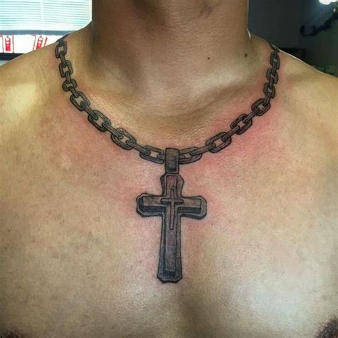 link chain tattoos designs cross tattoos ideas necklace for canvas