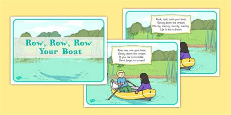 row boat verses row row row your boat display posters rhyme song