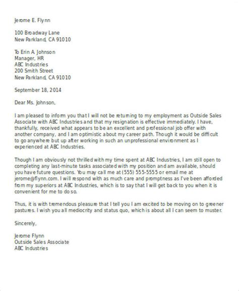 work resignation letter work resignation letter