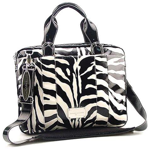 Chinese Laundry Zebra Computer Bag Black And White 51499 B H Zebra Laundry