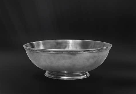 footed oval pewter centerpiece italian pewter tableware
