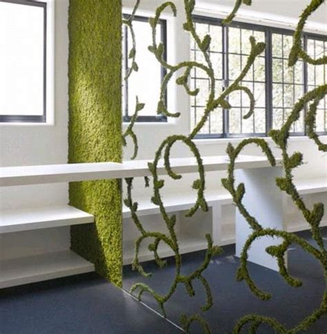 Where Do Interior Designers Shop leaving and breathing green walls from nendo freshome com