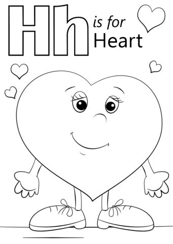 Letter H Coloring Pages Preschool by Letter H Is For Coloring Page Free Printable