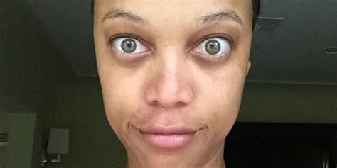 No Makeup Selfie Meme - l animatrice et mannequin tyra banks a publi 233 un selfie
