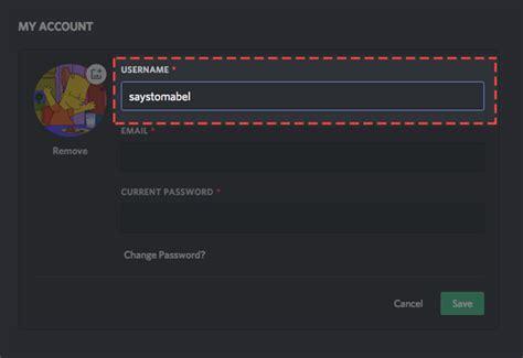 discord account how do i change my username discord