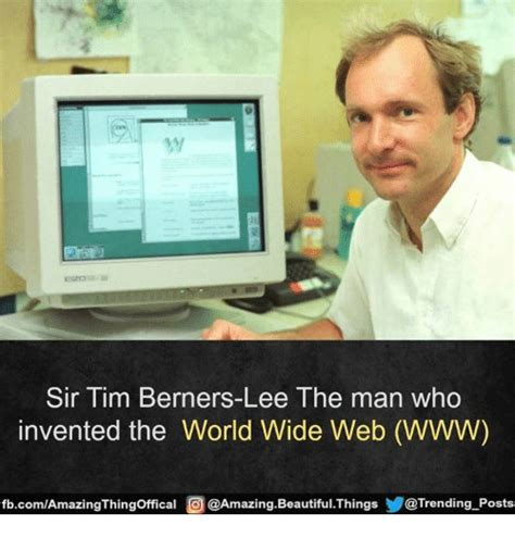 the man who made sir tim berners lee ihe man who invented the world wide web www fbcomamazingthingoffical 이
