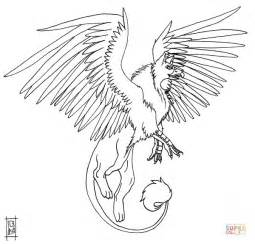 Akhor The Griffin Coloring Page Free Printable Coloring Griffin Coloring Pages