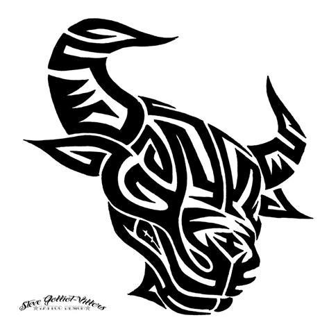 tribal bull by stevegolliotvillers on deviantart