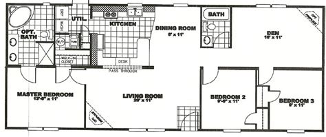 28x48 floor plans 24 x 60 mobile home floor plans