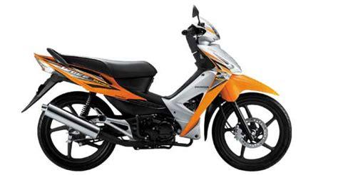 Motor Bebek Oranye desain terbaik bebeknya honda ada di revo 100 the
